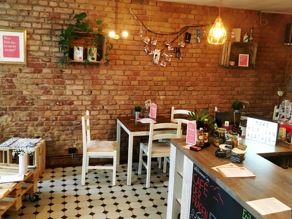 Café der Fragen - Eingang